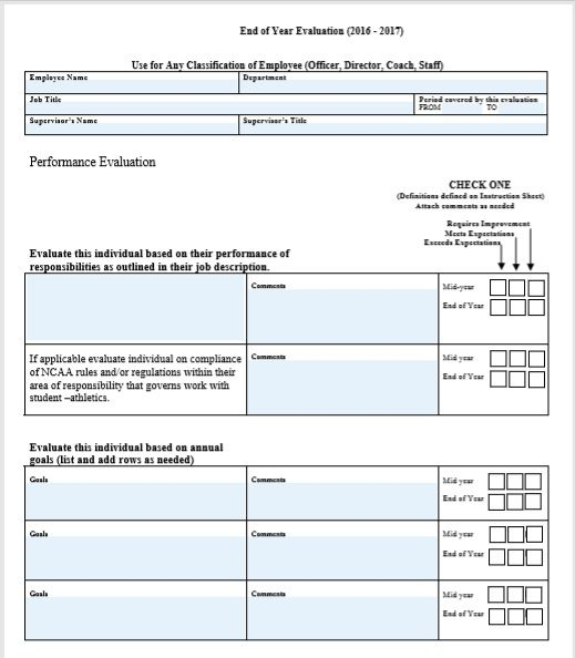 Employee Evaluation Form 29