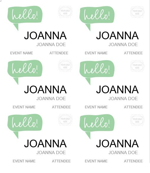name tag template 007