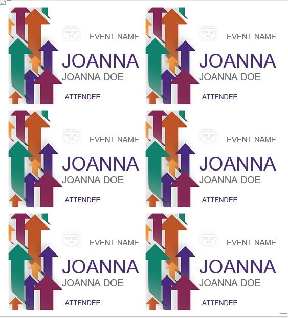 name tag template 012