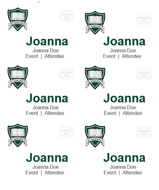 name tag template 016