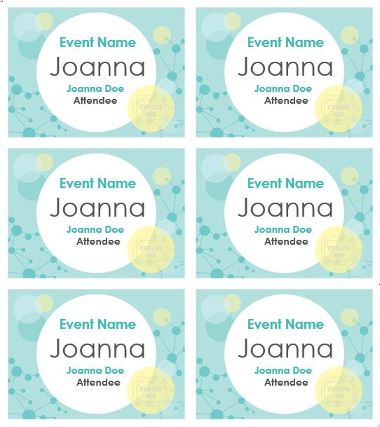 name tag template 018