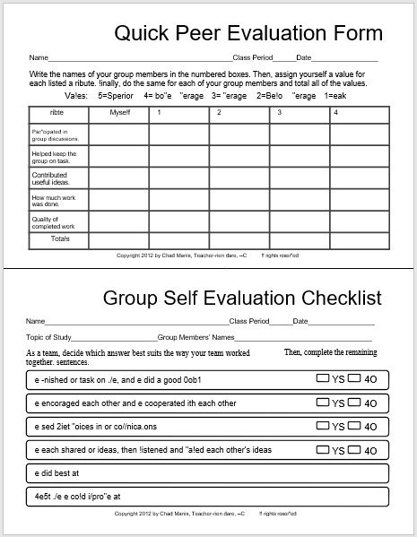 self evaluation form 22
