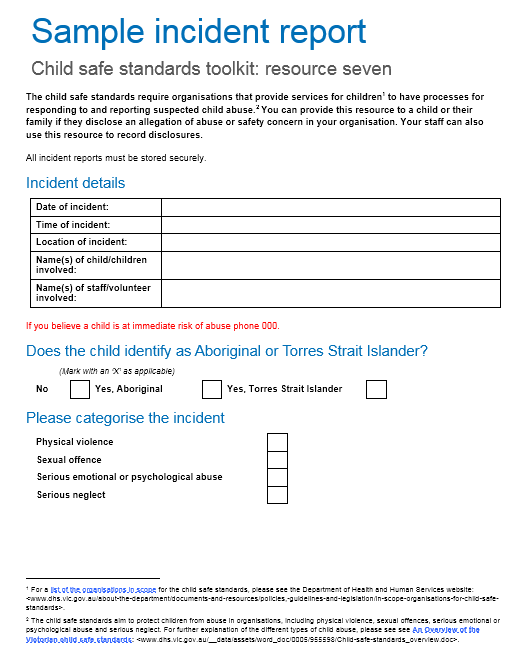 Incident Report Template 04