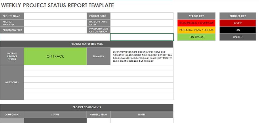 status report template 04