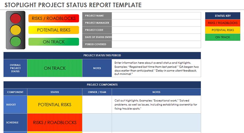 status report template 05