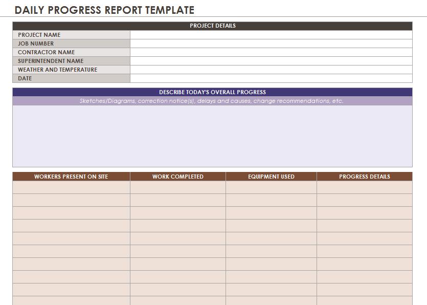 status report template 06
