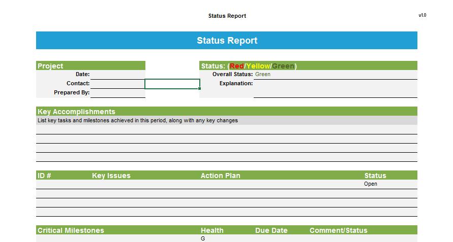 status report template 08