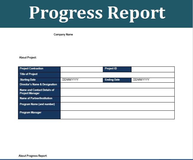 status report template 09