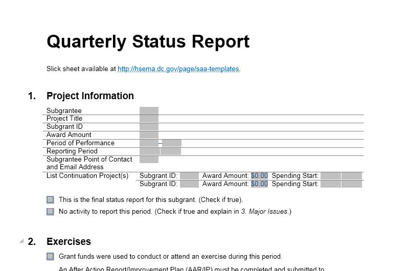 status report template 10