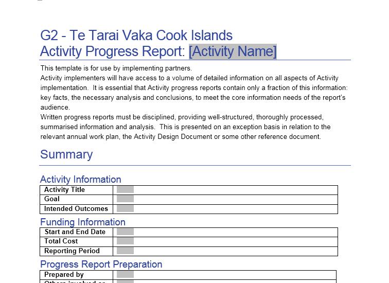 status report template 13