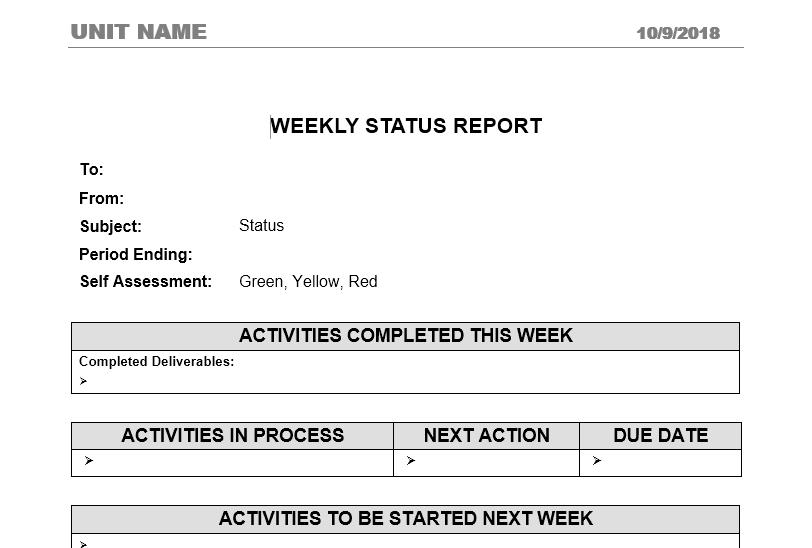 status report template 14