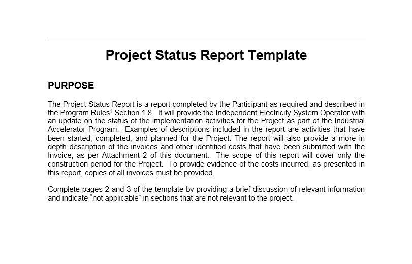 status report template 16