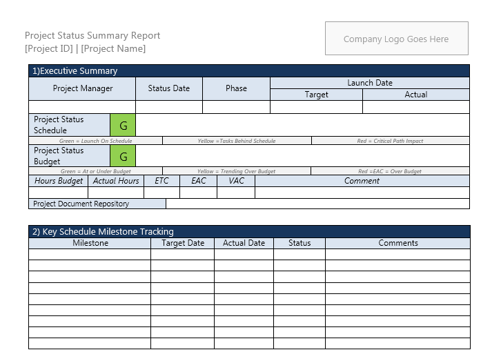 status report template 17