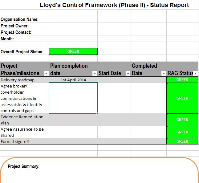 status report template 18