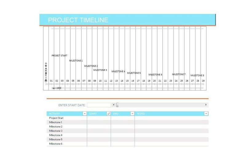 Project Timeline Template 03