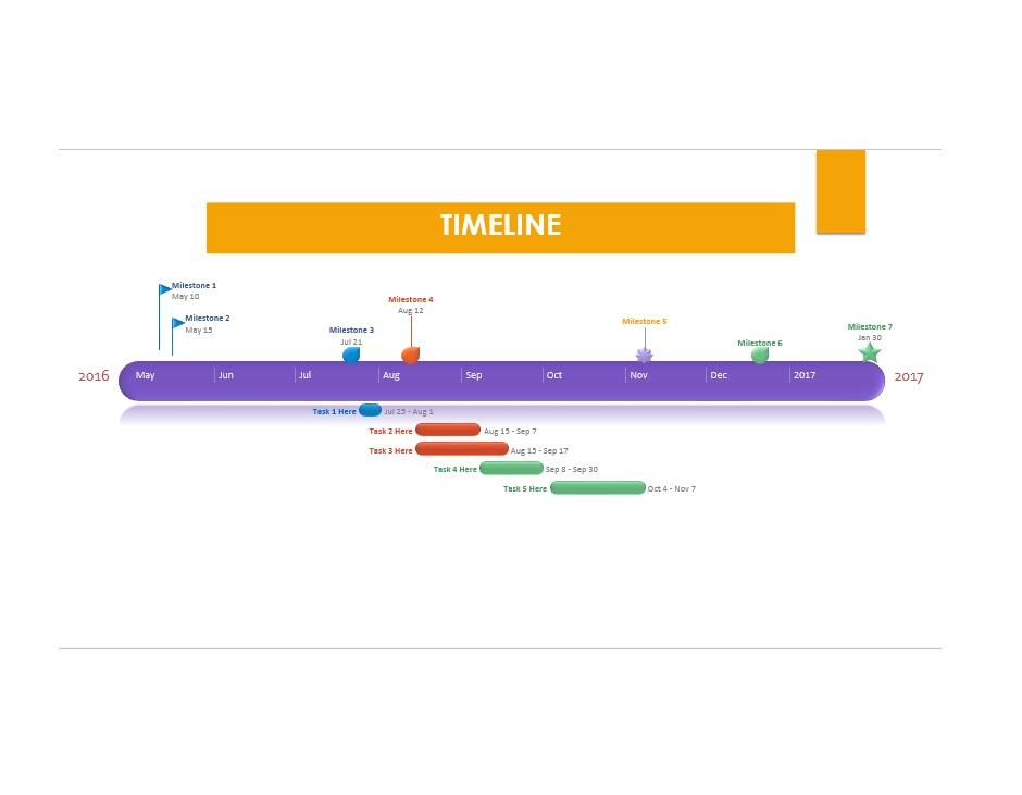 Project Timeline Template 08