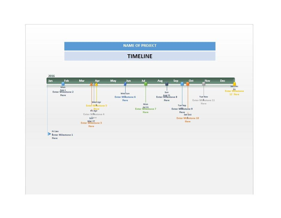 Project Timeline Template 09