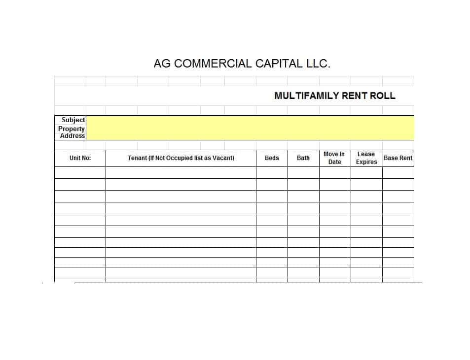 Rent Roll Form 12