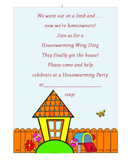 Housewaming Invitation Template 01