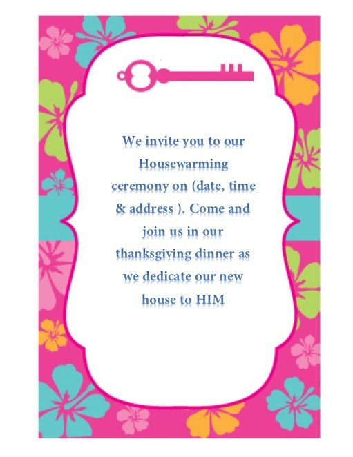 Housewarming Invitation Template 03