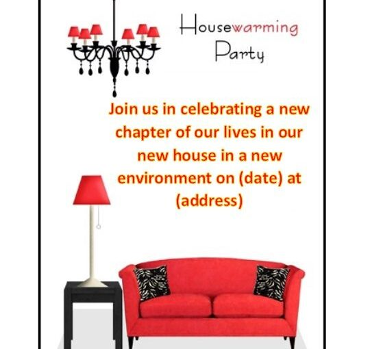 Housewaming Invitation Template 04