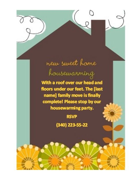 Housewaming Invitation Template 10