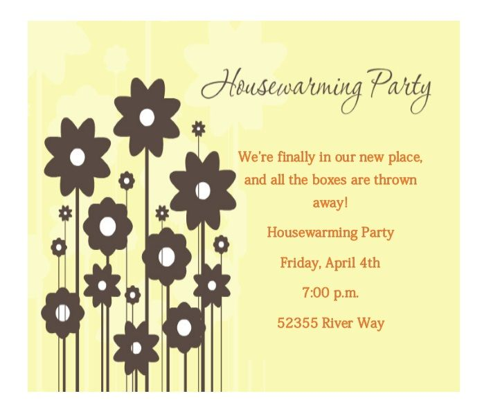 Housewaming Invitation Template 14