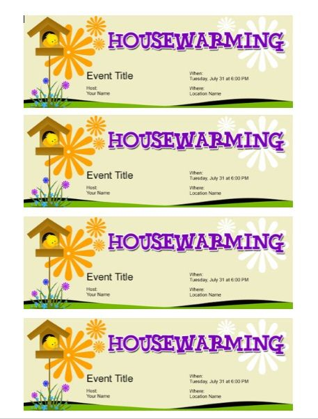 Housewaming Invitation Template 17