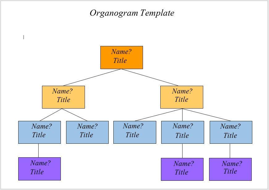 organogram template 01