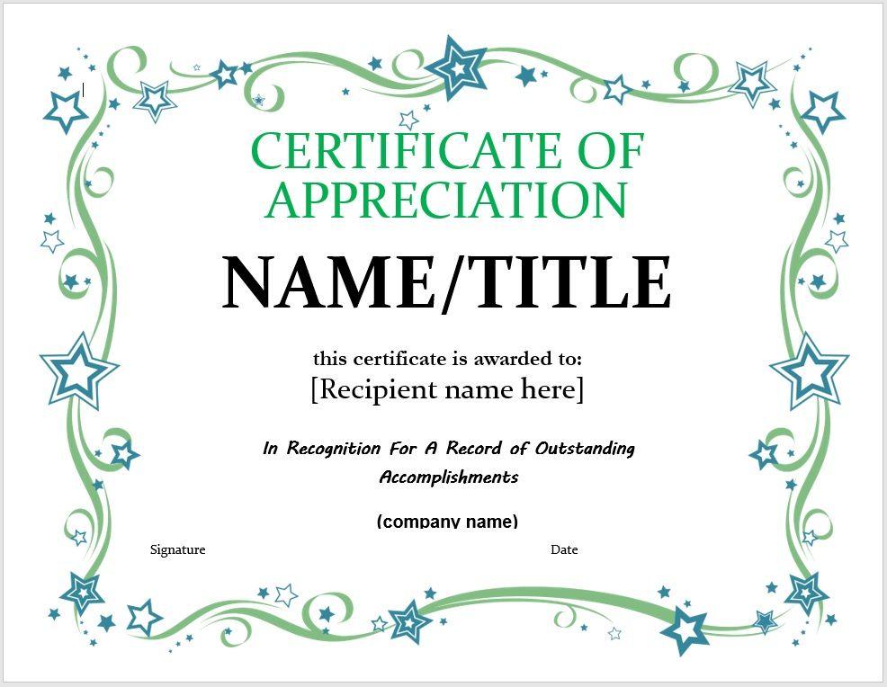 Certificate of Appreciation 17