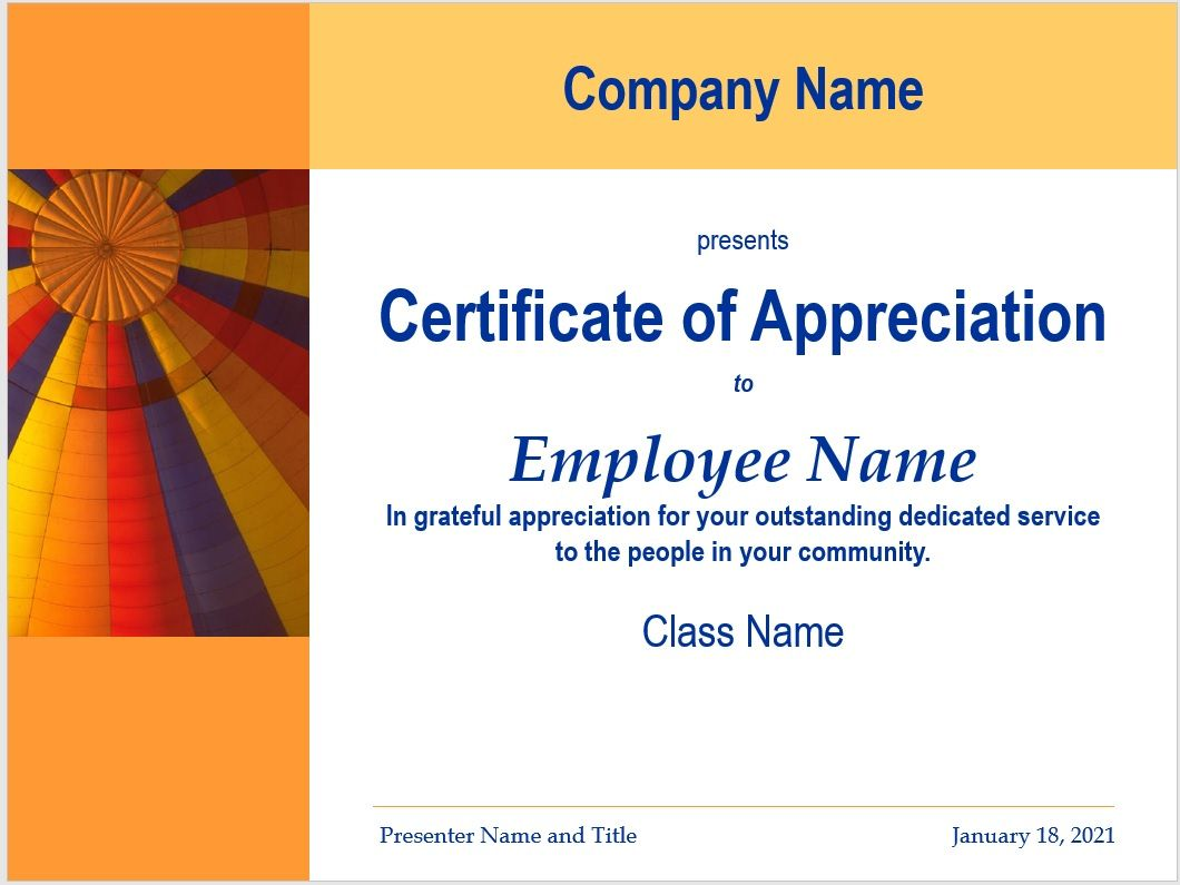 Certificate of Appreciation Template 26