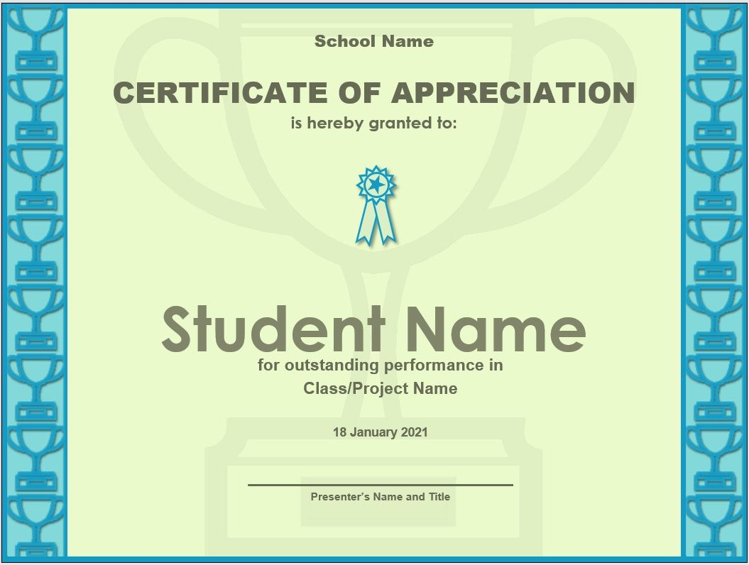Certificate of Appreciation Template 27