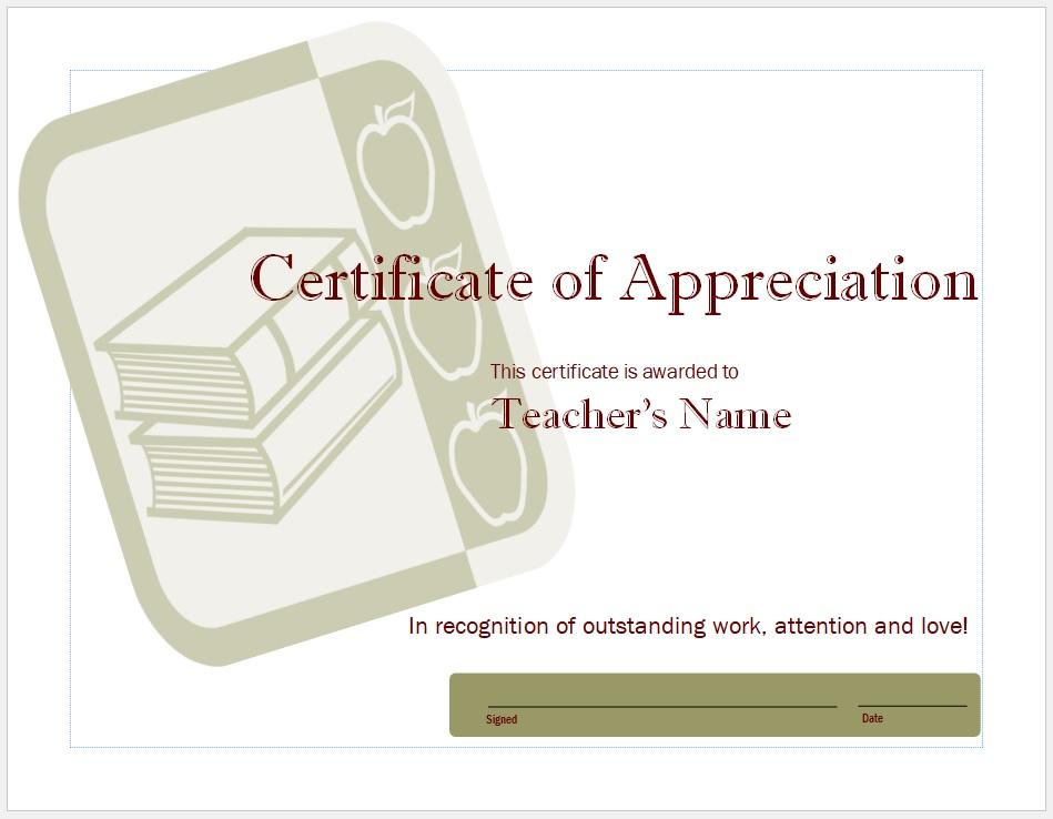 Certificate of Appreciation Template 28