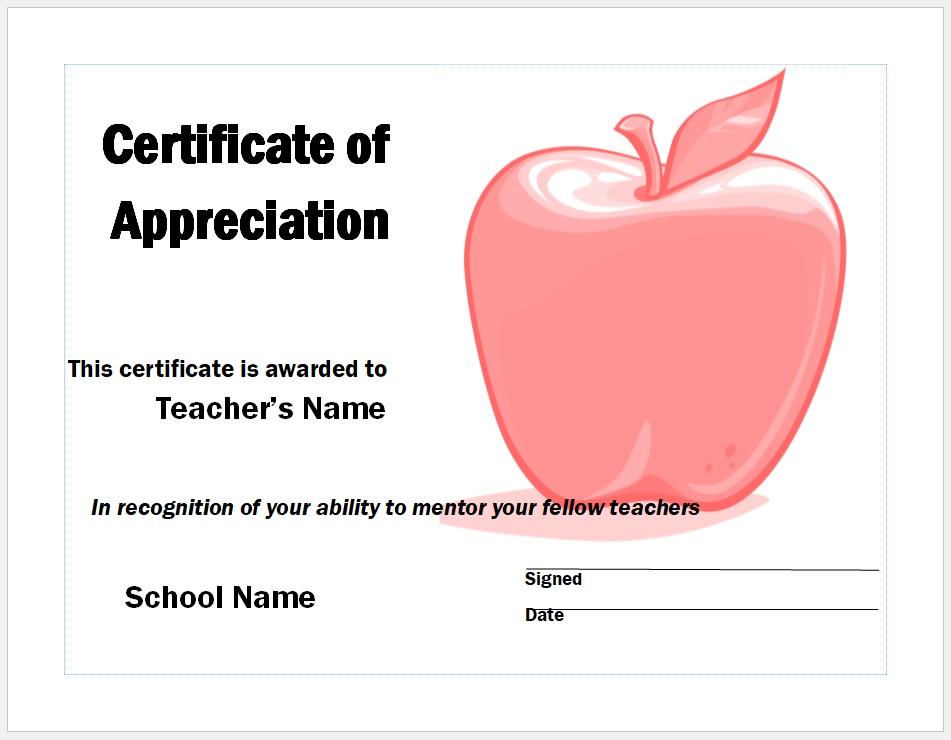 Certificate of Appreciation 29