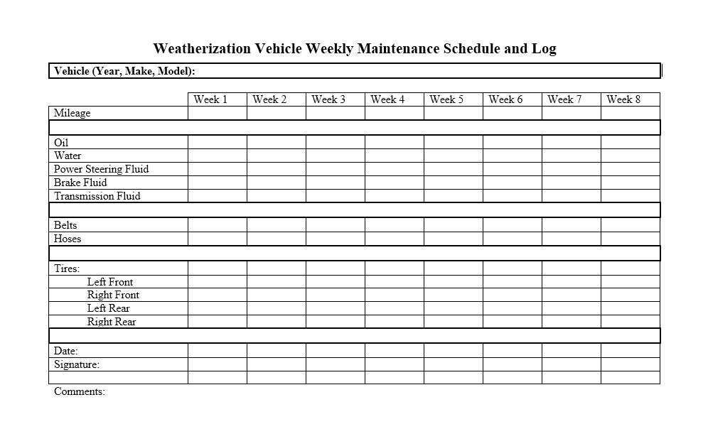 Vehicle Maintenance Log Template 01