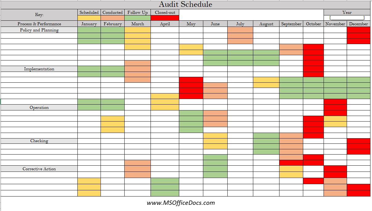 audit schedule template 02